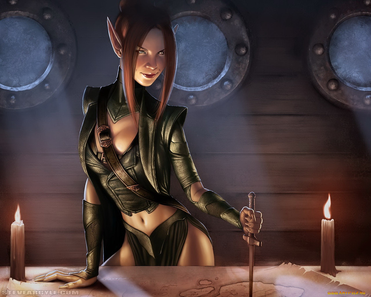 Female slave warrior of the elf sexy image